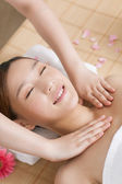 Woman enjoy massage — Stock Photo