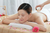 Woman enjoy massage — Stock Photo