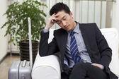 Businessman resting — Stock Photo