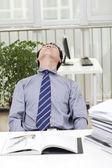 Man looks stressed — Stock Photo
