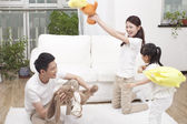 Family having fun together — 图库照片