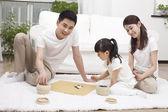 Rodzinne zabawy razem — Zdjęcie stockowe
