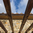 Stock Photo: Wooden pergola