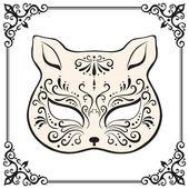 Venezianische maske gatto — Stockvektor