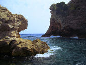 Seascape. Mountain ranges. Dubrovnik. Croatia — Stock Photo