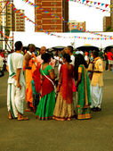 April 20, 2014, Durban Festival of Chariots. Indians on holiday — Stock Photo