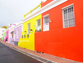 Street in Bo-Kaap. Bright colors. Cape Town. South Africa — Stock Photo