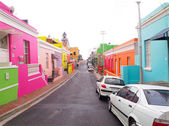 06 May, 2014 - Street in Bo-Kaap. Bright colors. Cape Town. Sout — Stock Photo