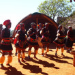 Zulu people in traditional clothes. April 18, 2014.KwaZulu-Natal — Stock Photo #49929315
