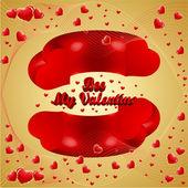 Valentine Hearts 3d — Stock Vector