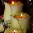 Wedding candle composition — Stock Photo