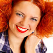 Beautiful redhead girl — Stock Photo