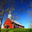 Wooden church on the hill — Stock Photo