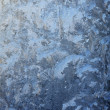 Frost-work on glass in natural light — Stock Photo #37112713