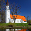 Little white church — Stock Photo
