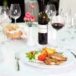 Table setting in the restaurant — Stock Photo #37113555