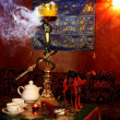 Hookah and tea  — Stock Photo