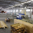 Wooden manufacture factory — Stock Photo