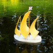 Toy sailboat — Stock Photo