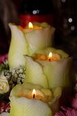 Wedding candle composition — Stock Photo