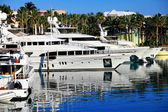 Yachts in marina in Nassau — Stock Photo