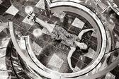Angel girl lying on the floor — Zdjęcie stockowe