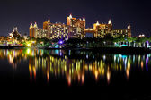 Atlantis in Bahamas at night — Stock Photo