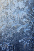 Frost-work on glass in natural light — Stock Photo
