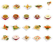 Menu dish selection — Stock Photo