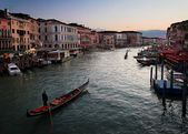Venice at the sunset — Stock Photo