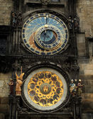 Ancient gothic clock — Stock Photo