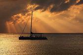 Catamaran silhouette — Stock Photo