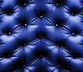 Blue leather — Stock fotografie