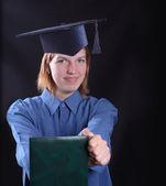 Garota graduada — Foto Stock