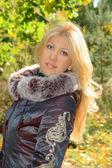 Dama de otoño — Foto de Stock