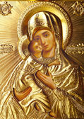 Icon of Motrer Mary — Stock Photo