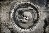 Ornament with skull — Stock Photo