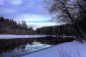 冬の川 — ストック写真