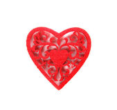 Red decorative heart — Stock Photo