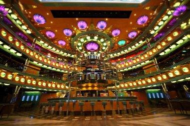 Atrium interior on the cruise ship