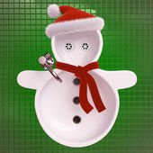 Snowman sinks — Stock Photo