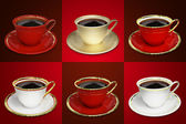 Coffee cup set — Stock Photo