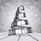 Celluloid christmas tree — Stock Photo