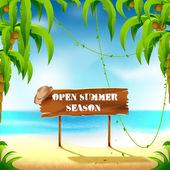 Open summer season — Stock Vector