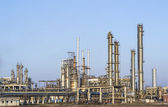 Oil and gas refining installations — Stock Photo