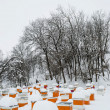 Bee hives in winter — Stock Photo #40092341