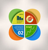 Vector circle business concepts with Graph and Chart — Stok Vektör