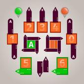 抽象信息图表元素 — 图库矢量图片