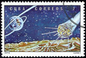 Stamp Soviet Space Luna 1 — Stock Photo