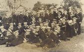 Una antigua foto de marineros — Foto de Stock